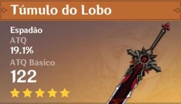 Espada Tumulo do Lobo Genshin Impact