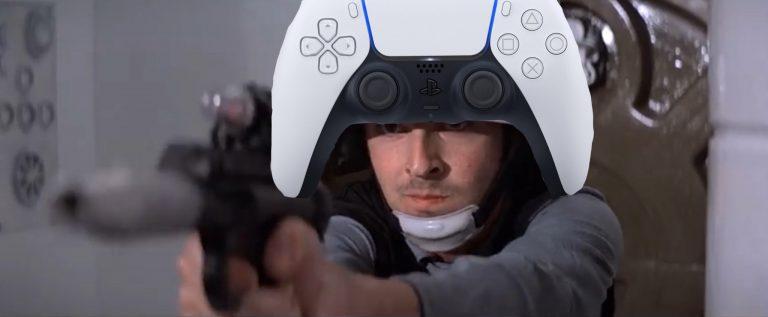 dualsense na cabeça de um personagem de star wars otageek
