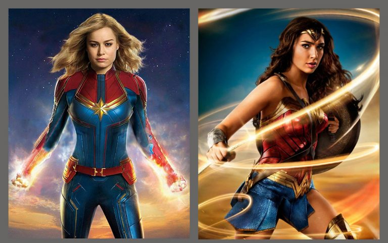 Capitã Marvel e Mulher Maravilha