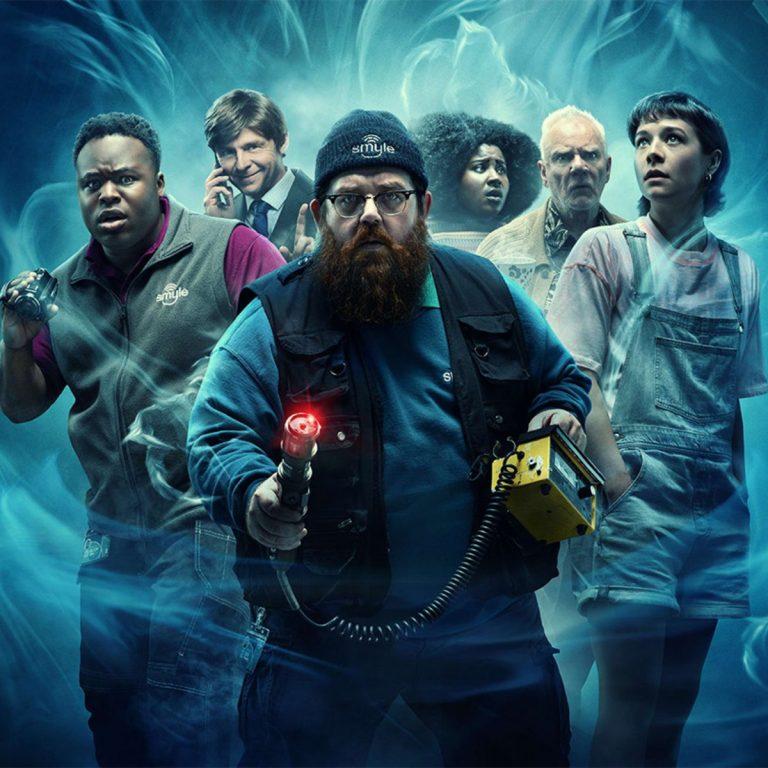 Poster de Thruth Seekers com tosod os personagens principais da serie, envoltos numa aura de mistério