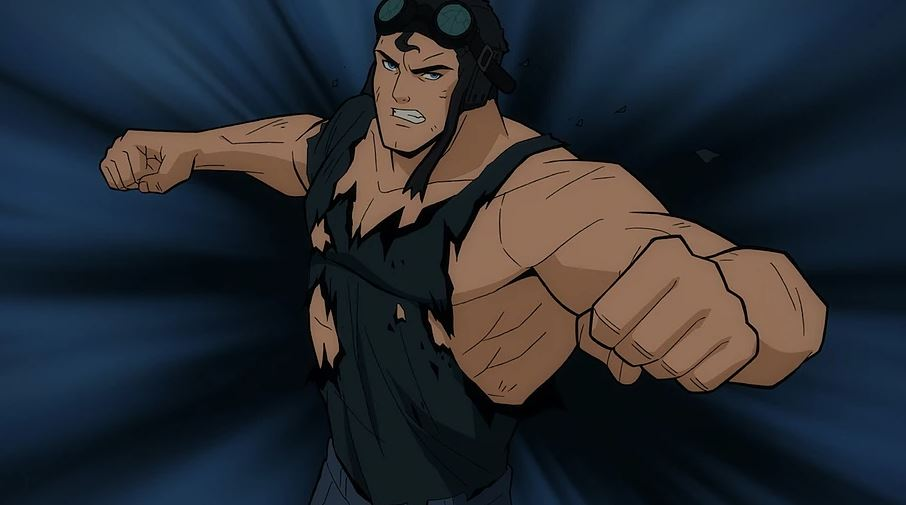 Superman em seu primeiro traje todo rasgado