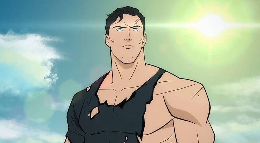 Clark Kent com a camisa rasgada