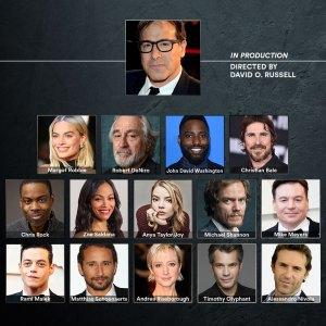 Quadro de atores confirmados para o projeto, incluindo Robert De Niro , Mike Myers, Timothy Olyphant, Michael Shannon, Chris Rock, Anya Taylor-Joy, Andrea Riseborough, Matthias Schoenaerts e Alessandro Nivola.