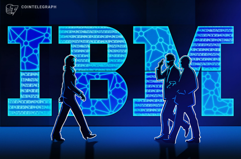 Banner IBM em azul destacado