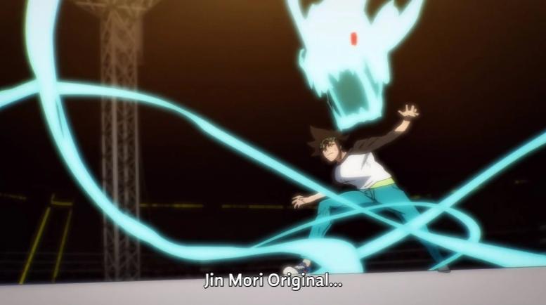 Jin Mori usando sua habilidade original