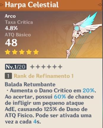 Harpa Celestial Genshin Impact