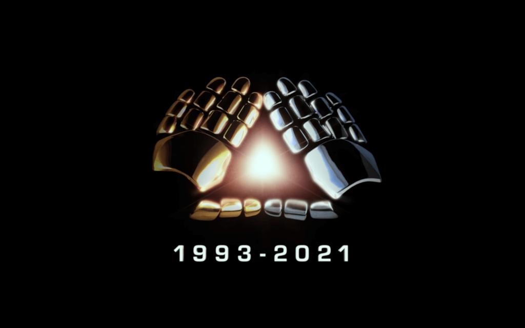 Mãos dos duo de Daft Punk