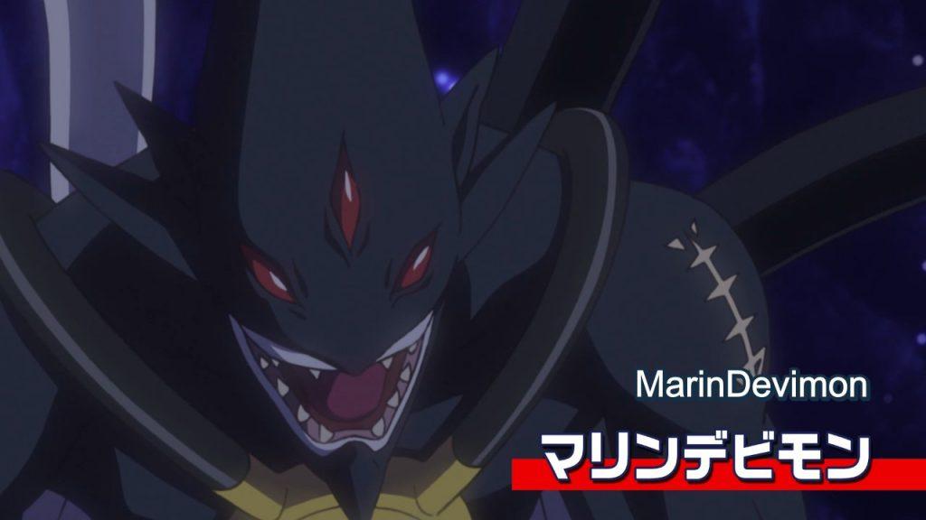 Aparição de MarinDevimon no episódio Angewomon Brilha