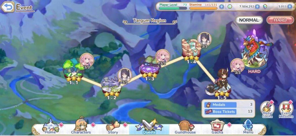 Imagem do mapa hard do evento O presente perfeito de Hatsune de Princess Connect Otageek