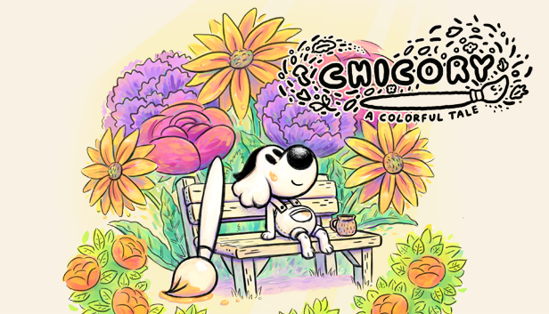 Logo do jogo Chicory: a colorful tale