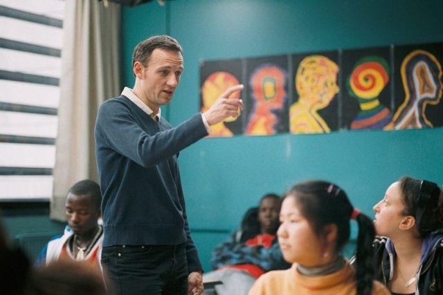 Professor François na sala de aula