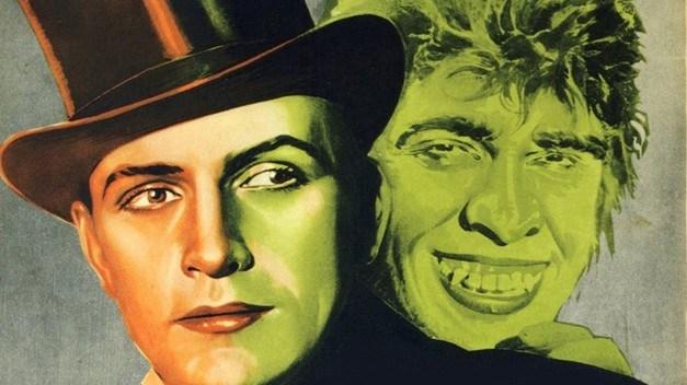 Cartaz da versão cinematográfica, de 1931. Hyde aparece verde como o Incrível Hulk…