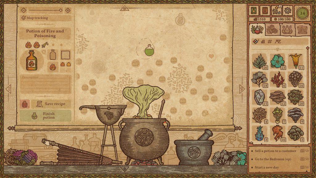parte do jogo potion craft: alchemist simulator da STEAM