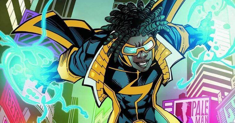Super-Choque mostrando seus poderes nos quadrinhos