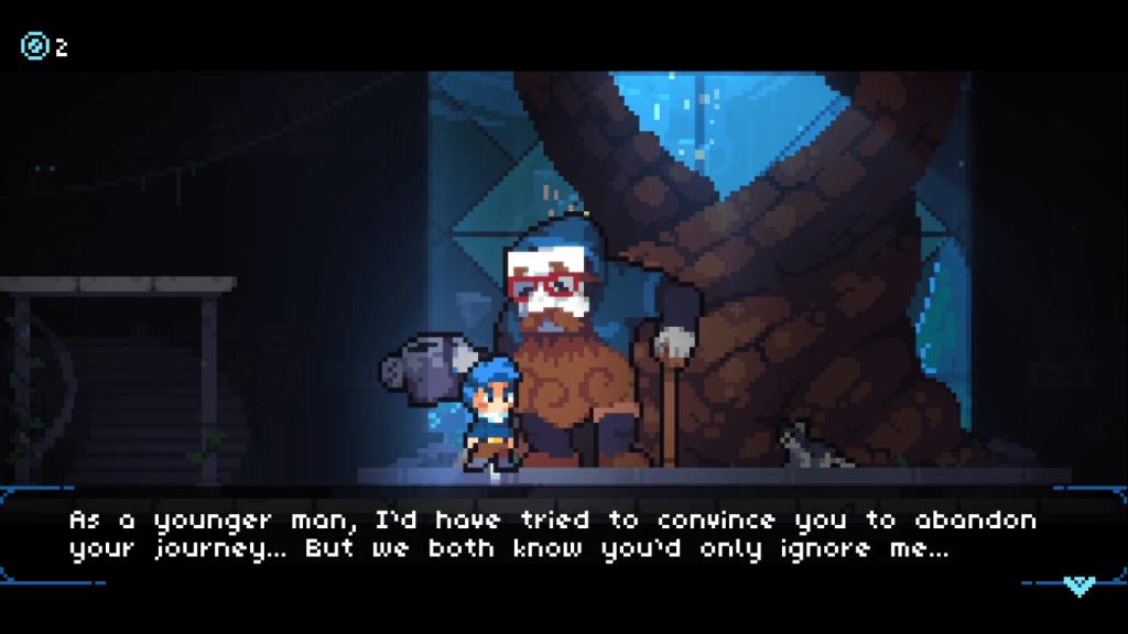 Revita NPC tenta convencer o jogador a desistir de ter suas memórias novamente.
