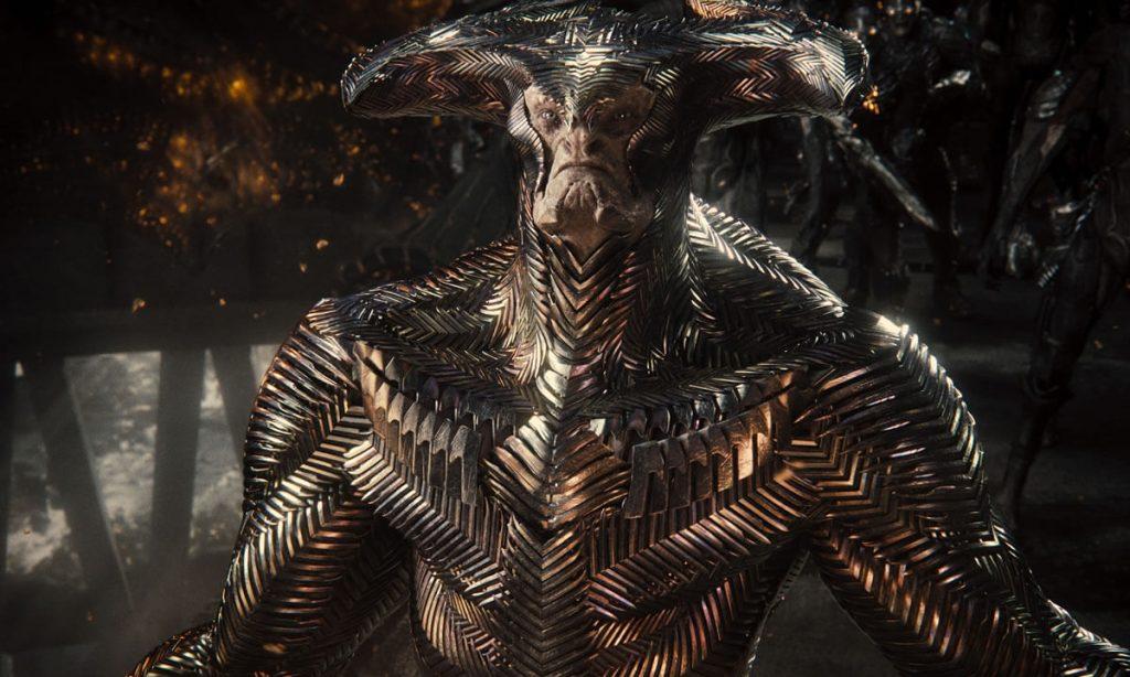 Lobo da Estepe cercado por parademônios em seu covil em Snyder Cut