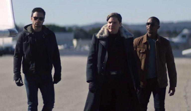 Bucky, Sam e Zemo durante o episódio 3 de Falcão e o Soldado Invernal - Otageek