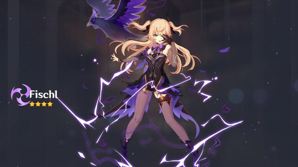 Fischl personagem 4 estrelas do elemento Electro