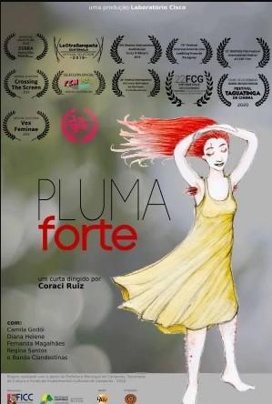 Cartaz oficial de Pluma Forte. Otageek